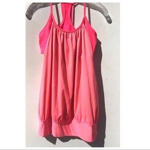 LULULEMON practice freely top hot pink 6 shirt